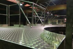 Platelage aluminium sur plateforme inox